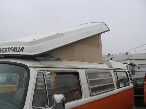 VW Westfalia '68-'73 Cotton Three-Window Beige Roof Canvas
