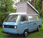 VW Westfalia '80-4/84 Poly-Cotton Three-Window Grey Roof Canvas