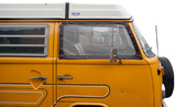 VW T2 (Bay-Window) Cab Window Screen Set with Brown Trim