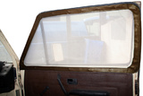 VW T25 (Vanagon) Cab Window Screen Set with Brown Leather Trim