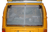 VW T2 (Bay-Window) Rear Hatch Screen with Centerline Zipper and Brown Trim