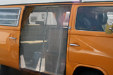 VW T2 (Bay-Window) Sliding Door Screen with Centerline Zipper and Brown Tri